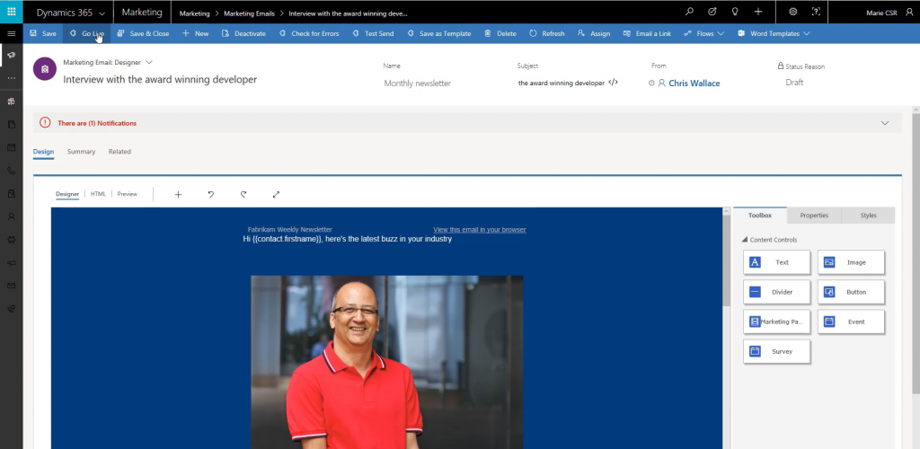 Dynamics 365 Marketing 1